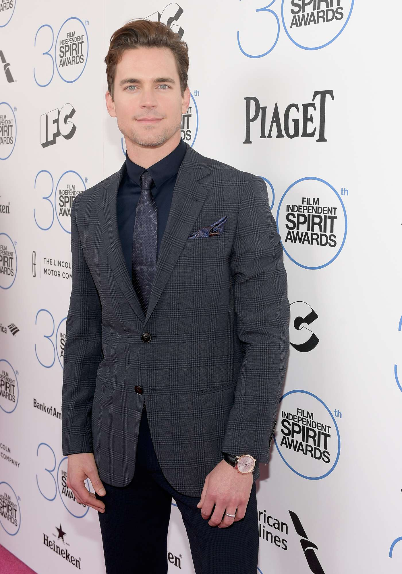 Matt Bomer wearing the Altiplano Chronograph in rose gold
