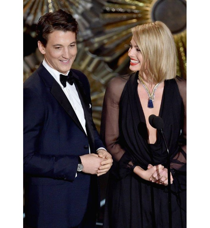 Miles Teller and Margot Robbie, photo courtesy of Montblanc